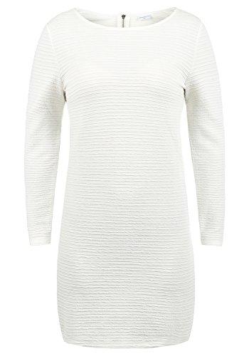 ONLY Greti Damen Sweatkleid Kleid Mit Rundhals Aus Stretch-Material, Größe:M, Farbe:Cloud Dancer