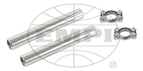 Tail Pipe Exhaust Tips, Chrome Clamp On, For Beetle, Pair, Compatible with Dune Buggy