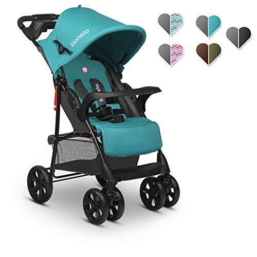 Lionelo Emma Plus kinderwagen kindersportwagen licht modern klein buggy met ligpositie inklapbaar (Vivid Turquoise)