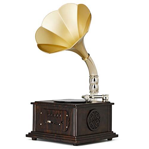 Tocadiscos Retro Living Room Gramófono Bluetooth Reproducción de conexión USB con Altavoces...