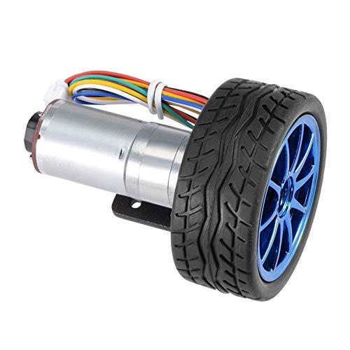 Motor engranajes codificador, módulo control motor paso a paso kit ruedas 65mm con soporte montaje para robot coche inteligente DC 6V kit coche inteligente DIY motor en(#5)