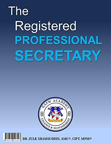 The Registered Professional Secretary (English Edition)