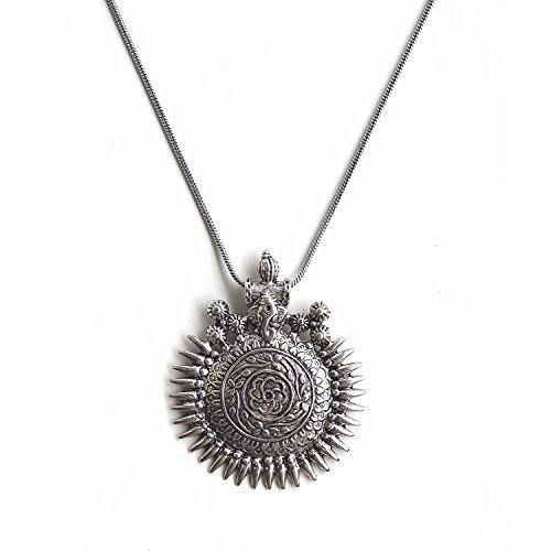 Efulgenz Indian Vintage Retro Ethnic Gypsy Oxidized Tone Boho Necklace Jewellery for Women