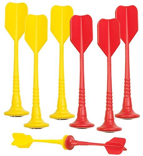 Playtastic Ersatzpfeil: 6er-Set magnetische Dartpfeile, je 3X gelb und rot (Magnetpfeil)