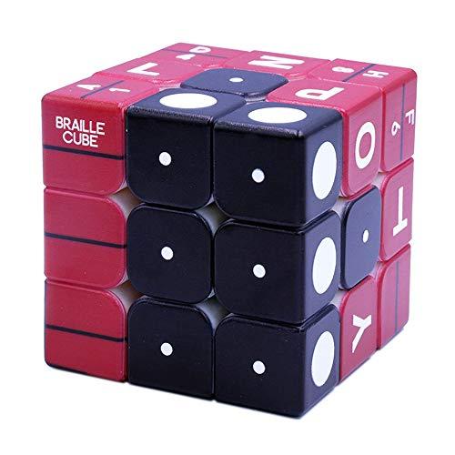TTXLY Magic Cubes 3X3x3Tercera Orden Braille Impresión UV Impresión Digital Combinación estéreo Aprendizaje en Relieve Speed Cube para Adultos Juguetes educativos para Adultos