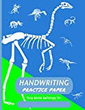 Handwriting Practice Paper Struthiomimus: Fun Dinosaur Themed 150 Page Dotted Lined Notebook For Kids