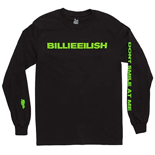 Billie Eilish Don't Smile at Me Long Sleeve Adult T-Shirt - Black (Small)