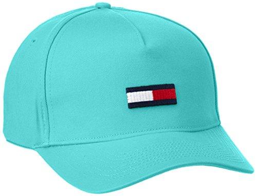 Tommy Hilfiger Thdm Flag 11-Gorra de béisbol, Hombre, Verde (Viridian Green), Talla única (Talla del fabricante: OS)