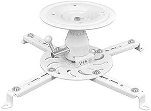VIVO Universal Articulating Swivel Tilt Premium Ball Joint Heavy Duty Ceiling Projector Theater Mount | Full Motion White (MOUNT-VP04W)