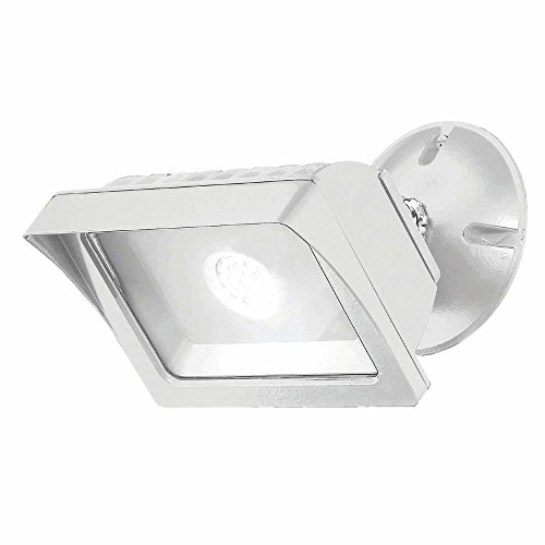Designers Fountain FL2016N40-06 Integrated Led Adjustable Single-Head White Outdoor Flood Light, 1775 lm, 4000K