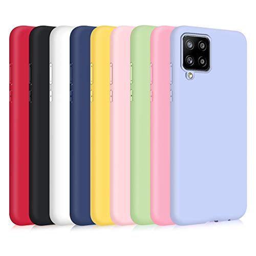 9X Cover Samsung Galaxy A12/ M12, Ultra-Sottile Tinta Unita Silicone Morbido TPU Custodia Protettiva Anti-Graffio Cellulari Protezione Shell Paraurti Case - Nove Colore