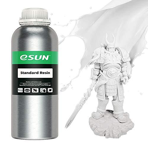 eSUN LCD UV 405nm Resina Standard per Stampante 3D Resina Fotopolimerizzante UV Resina Fotopolimerica Rapida per Stampa 3D LCD, 1000g Bianca