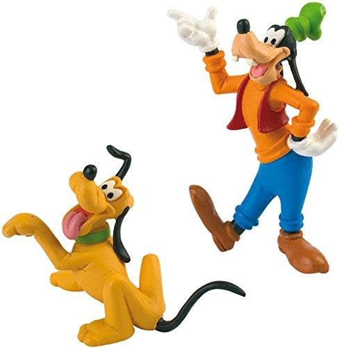 Bullyland - GOOFY & PLUTO - Figur : GOOFY- ca. 8 cm / PLUTO ca. 5,5 cm - Walt Disney