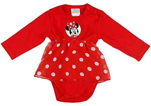 Disney Baby Body Mädchen Festlicher Minnie Maus Kombi Body Gr.: 56, 62, 68, 74 (56)