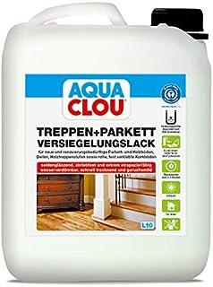 Aqua Clou Treppen- und Parkett Versiegelungslack 5L: Anwendung auf neuen Holzböden und im Rahmen der Renovierung für Dielen, Holz-Treppenstufen sowie Korkböden