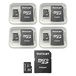 small Patriot LX Series 64GB Micro SDXC – Class 10 UHS-I – 5 Pack