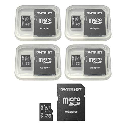 Patriot LX Series 64GB Micro SDXC - Class 10 UHS-I - 5 Pack
