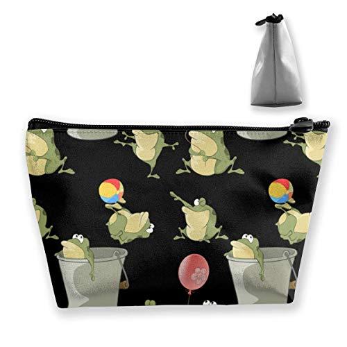 Grenouille Portable Maquillage Sac de Réception Stockage Poches Grande Capacité Main Travel Wash Bag