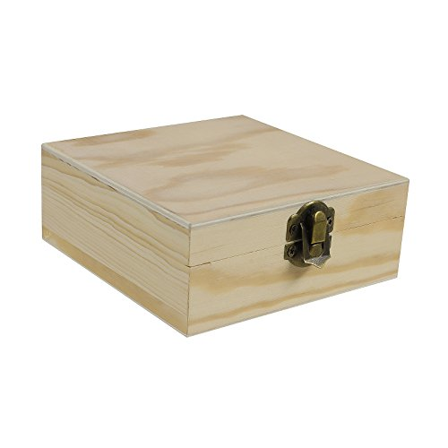 1 Holz Rohling zum Verzieren, verschönern, Decoupage, verschiedene, Größe:Schachtel 12x12x5cm
