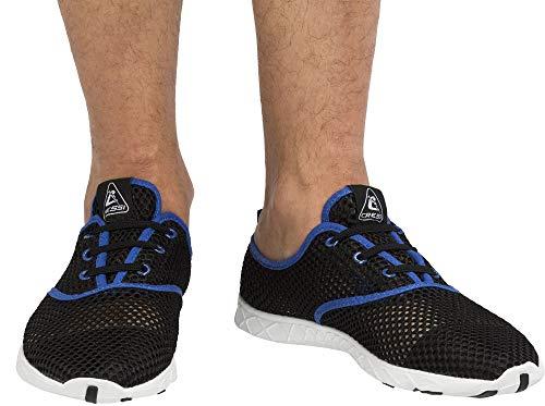 Cressi Aqua Shoes Zapatillas de Agua Unisex para Deportes acuáticos, natación, Piscina, Paseo en la Playa, Azul y Negro, 41