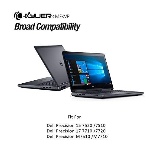 K KYUER 11.4V 91Wh MFKVP Laptop Akku für Dell Precision 15 7000 7510 7520 Precision 17 7000 7710 7720 M7710 M7510 Mobile Workstation TWCPG T05W1 GR5D3 0FNY7 1G9VM M28DH 451-BBSB 451-BBSE 451-BBSF