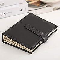 イヤリング収納ブック、PUレザーイヤリングホルダー、イヤリングを収納できる携帯用トラベルジュエリーケース。 (black)