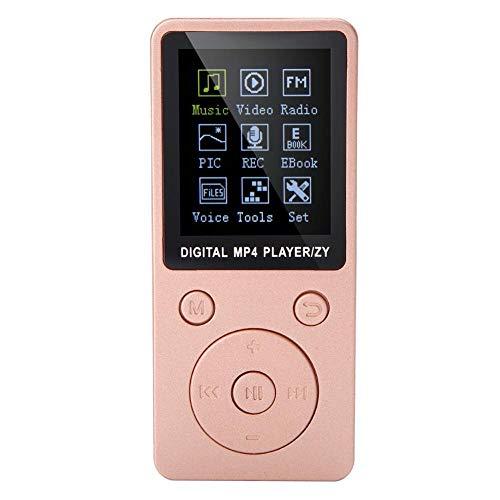 VBESTLIFE Mini Reproductor de Música Portátil HiFi MP4 Radio FM con Pantalla Táctil Soporte Grabación, Video, e-book, Cronómetro Incorporado(rosa)