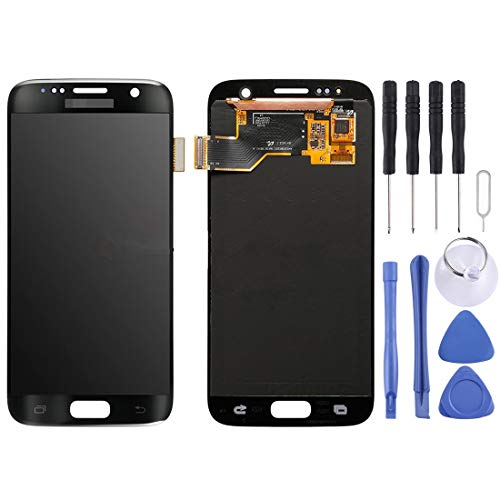 Glass LCD-scherm + Touch Panel For Galaxy S7 / G9300 / G930F / G930A / G930V, G930FG, 930FD, G930W8, G930T, G930U (zwart) Reparatie (Color : Black)