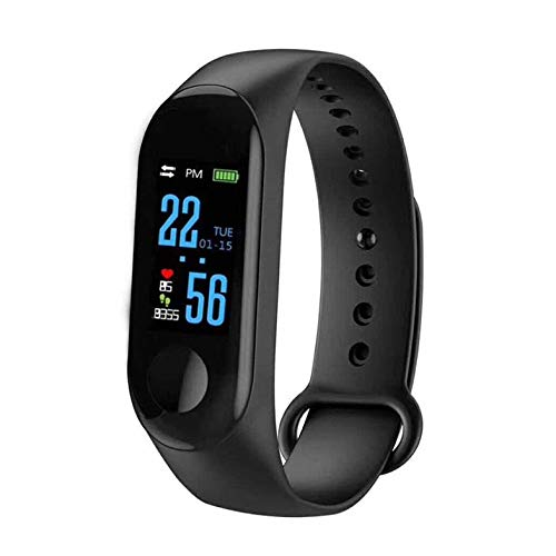 M3 Unisex Health Tracker Smart Band Reloj Pulsera Pulsera Fitness Tracker Monitor Pulsera - Negro