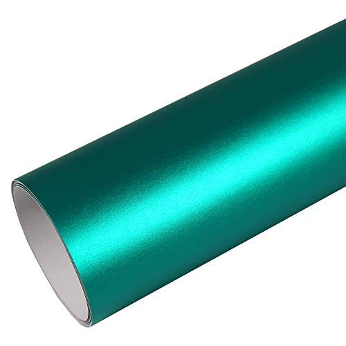 Rapid Teck® 15,79€/m² Premium – MATT Chrom Türkis 50cm x 1,52m Auto Folie Blasenfrei mit Luftkanälen für Auto Folierung und 3D bekleben in Matt Glanz und Carbon Autofolie