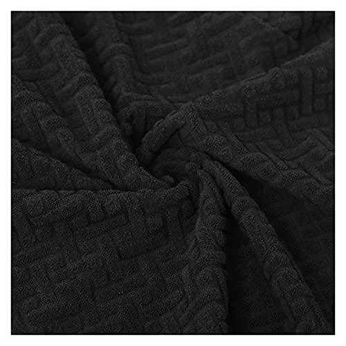 okkpbg Cubierta de Asiento de Silla de Comedor extraíble Jacquard Silla de Silla de Asiento Cojín de Asiento for Comedor Sillas de Cocina (Color : Black)