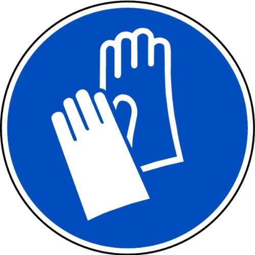 LEMAX® Aufkleber Handschutz benutzen nach ISO 7010 ISO-M009 200mm