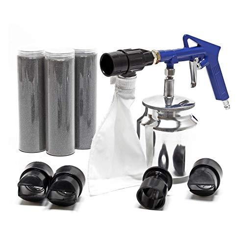 Sabbiatrice Pistola per sabbiatura sabbiare 3-4bar con sabbia abrasiva accessori