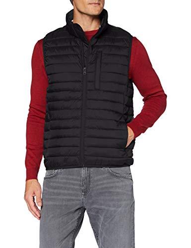 ESPRIT Herren 990EE2H301 Fleece-Weste, 001/BLACK, S
