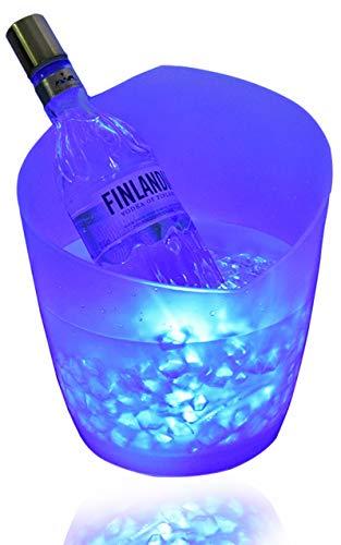 Cubitera LED de 5 L RGB, enfriador de botellas Enfriador de botellas – Enfriador de botellas Enfriador de bebidas Resistente al agua con cambio de color Para KTV, fiesta, hogar, etc. (2021)