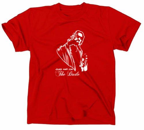 #2 The Big Lebowski The Dude T-Shirt Kult Funshirt rot L