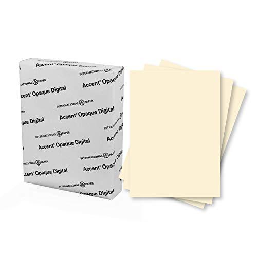 Accent Opaque Cream Printer Paper, 8.5� x 11� 24lb Bond/60lb Text Copy Paper � 500 Sheets (1 Ream) � Premium Computer Paper with Smooth Finish � 97 Bright, 89gsm � Warm White Copy Paper � 188123R