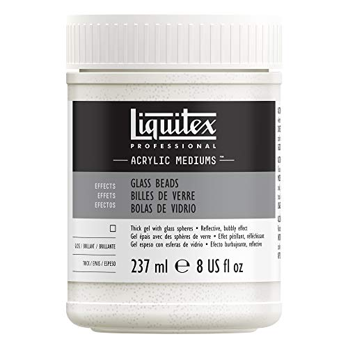 Liquitex 6908 Professional Glasperlen Medium, Gel mit klaren runden Kugeln die zu einer halbglänzenden Fläche trocknet - 237ml Topf