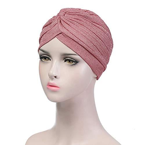Turbantes Headband Diademas para Mujer Turbantes Mujeres Plata Oro Nudo Torcido Turbante Diademas Gorra Otoño Cálido Som