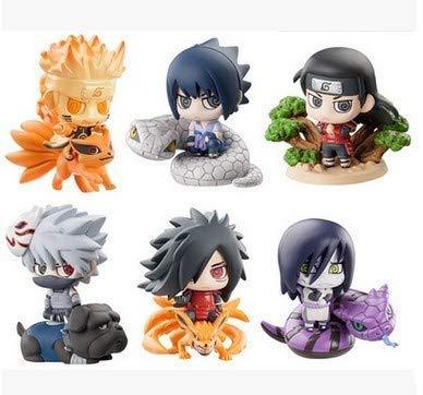 Multiculture Naruto Chibi Figure Set 6 Mini Figure