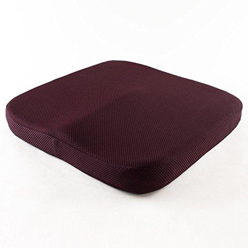 DW&HX Memory Foam orthopädische sitzkissen für bürostuhl Auto LKW Flugzeug Rollstühle - schafft abhilfe für die niedrigeren rückseitigen Schmerz steißbein steißbein ischias-H 16x16x2inch(40x40x6cm)