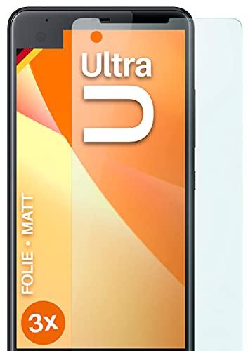 moex Schutzfolie matt kompatibel mit HTC U Ultra - Folie gegen Reflexionen, Anti Reflex Bildschirmschutz, Matte Bildschirmfolie - 3X Stück