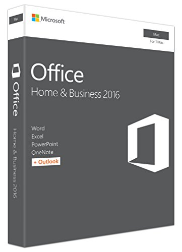 MS Office Mac Home Business 1 PK 2016 P2 EuroZone 1 License Medialess (EN)