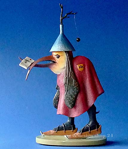 Vogel mit Brief Museumsshop Skulptur Resin Hieronymus Bosch