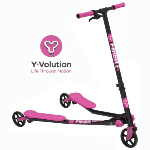 Yvolution Kinder Y Fliker Air A3Tretroller mit 3Rädern, Rosa