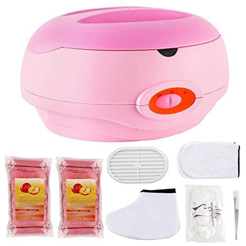 AYITOO Paraffinbäder Wachsbad für Hände und Füße mit Zubehör, Versorgt die Haut mit Feuchtigkeit Paraffin Wachsbad für Hände und Füße Gerät Rosa