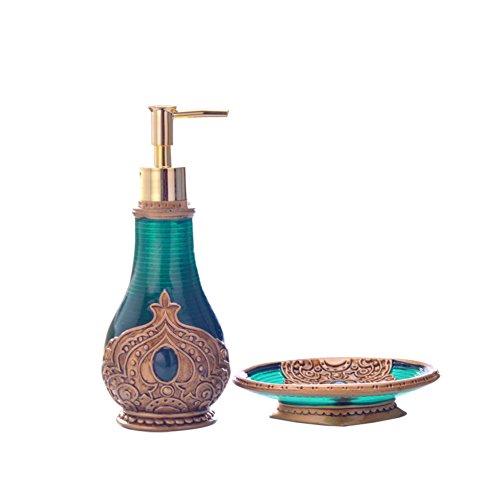 TY&WJ Créatif Résine Distributeur de savon Pousser Boîte de shampooing Bouteilles de lotion Détergent Bain Boîte à savon Hôtels Ménage Salle de bains Cuisine -300 ml-A