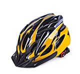 HNZSCasco de Bicicleta Todoterreno Profesional de montaña Caliente Luz Transpirable Unisex Protector de Cabeza Ajustable Casco de Bicicleta Cascos de Ciclismo-Amarillo 57-62cm