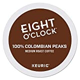 Eight O'Clock Coffee Colombian Peaks, Single-Serve Keurig K-Cup Pods, Medium Roast Coffee, 24 Count