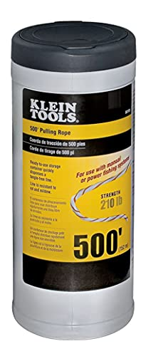 Klein Tools 56108 Pull Line for Light Duty Cable or Rope Pulling, 210 lb Average Breaking Strength 500-Foot